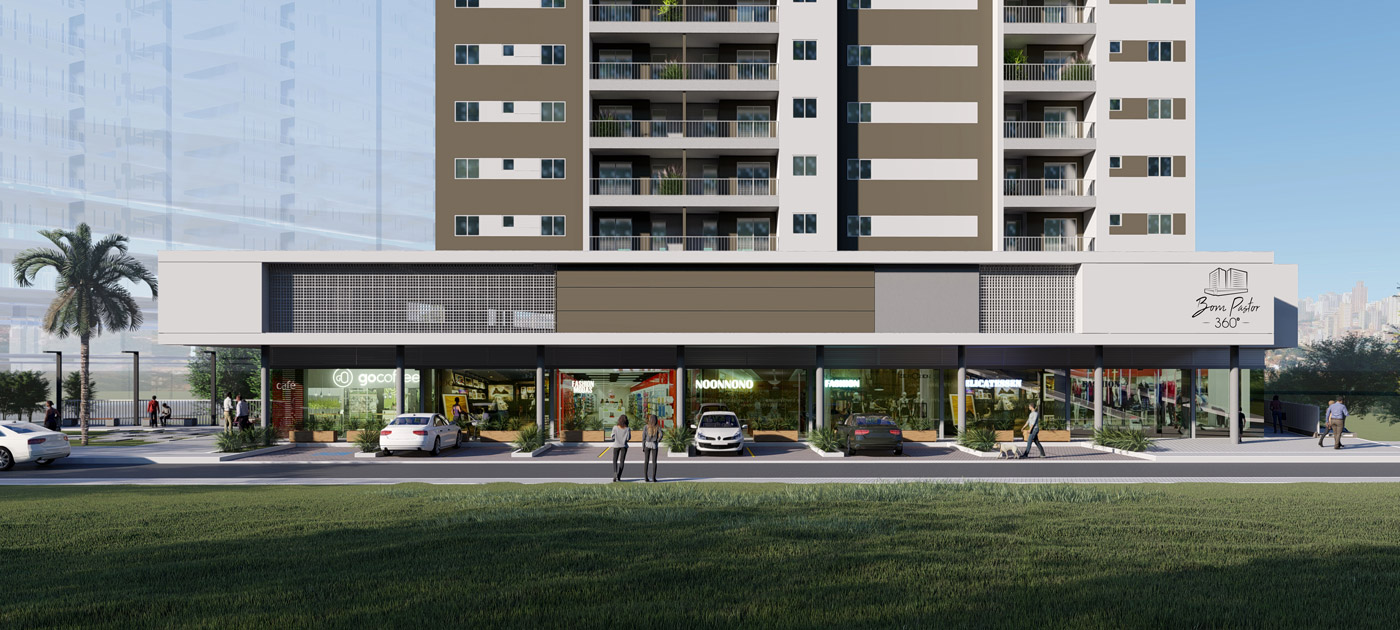 fachada empreendimento imobiliário 2 - bom pastor 360