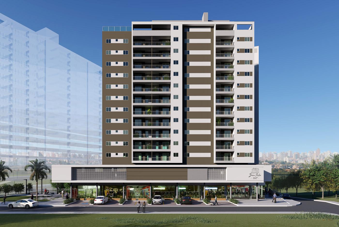 fachada empreendimento imobiliário 5 - bom pastor 360