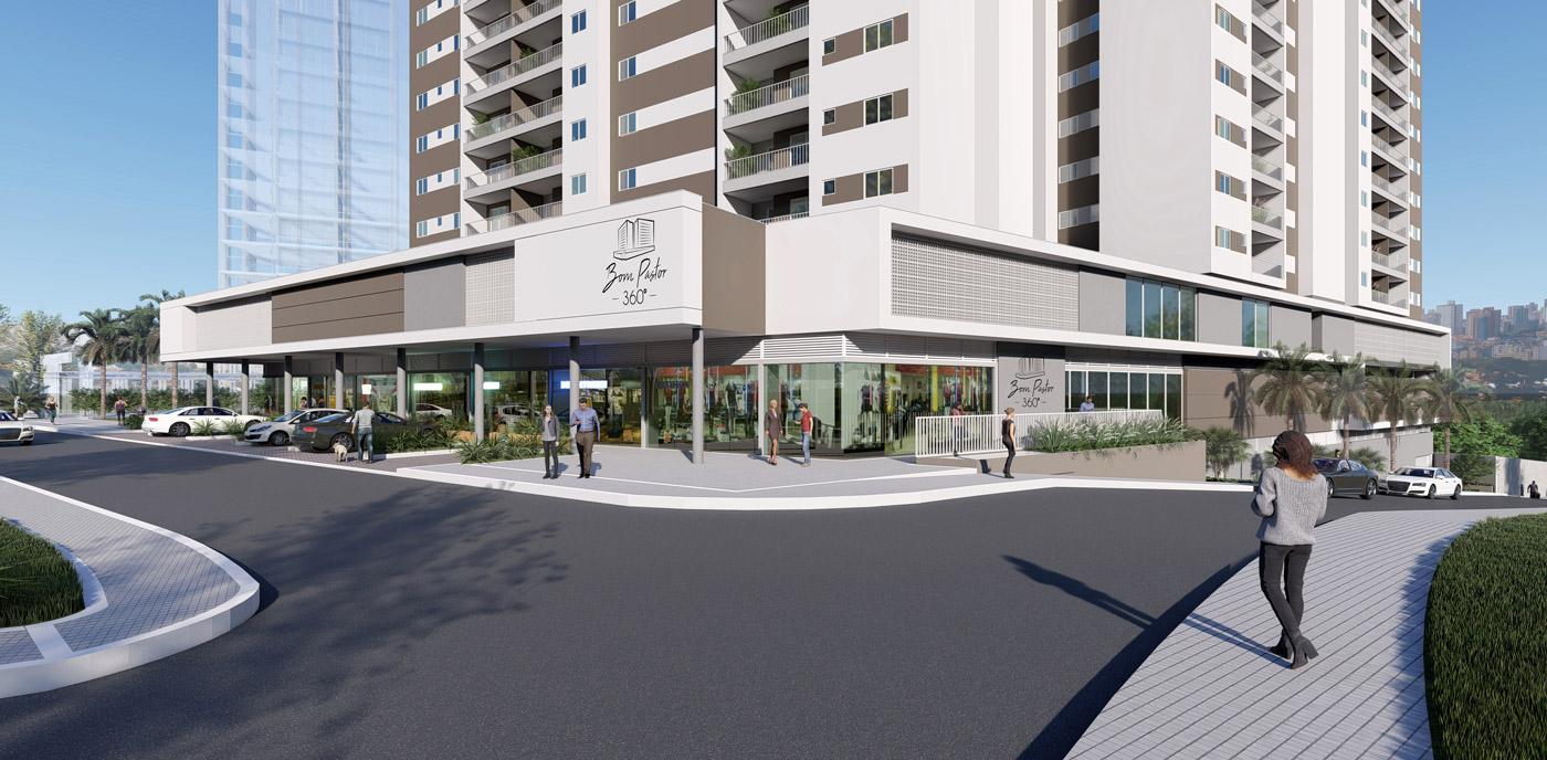 fachada empreendimento imobiliário 4 - bom pastor 360