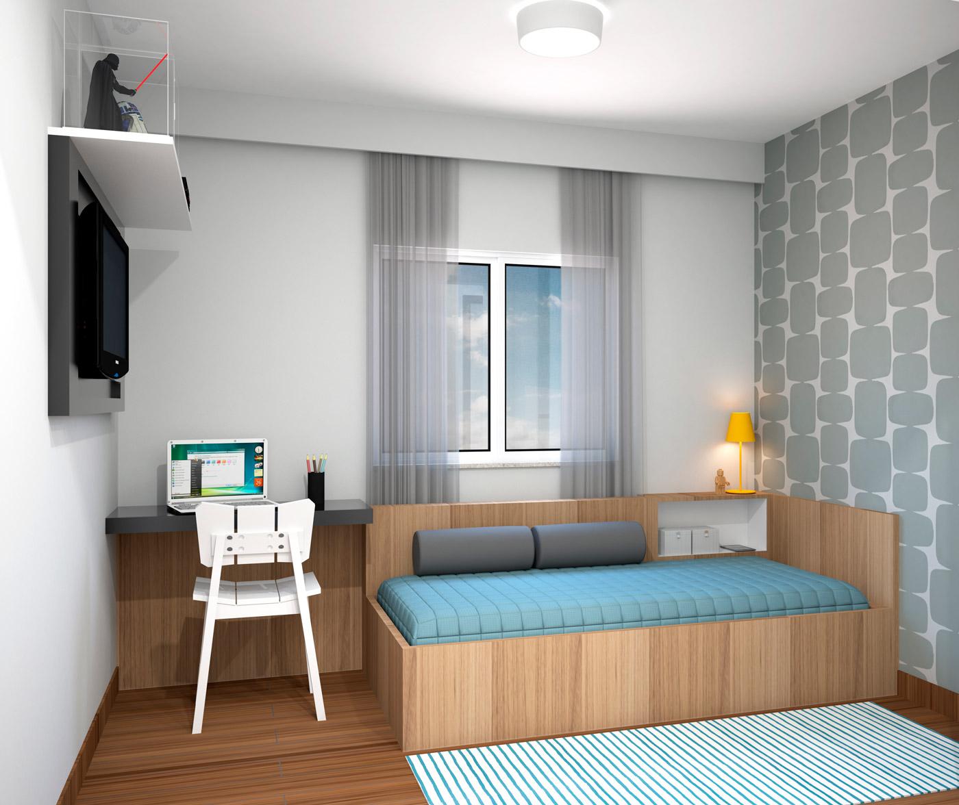 quarto apartamento 3 - bom pastor 360